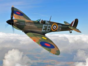 A Spitfire in the skies
