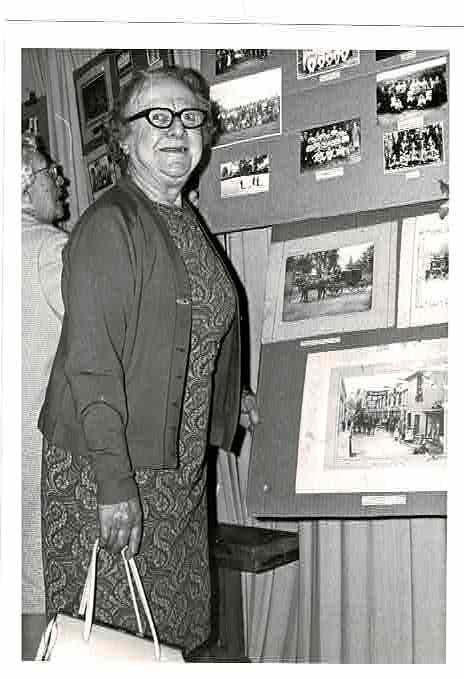 WI Mrs Middleton at Village Show 1972