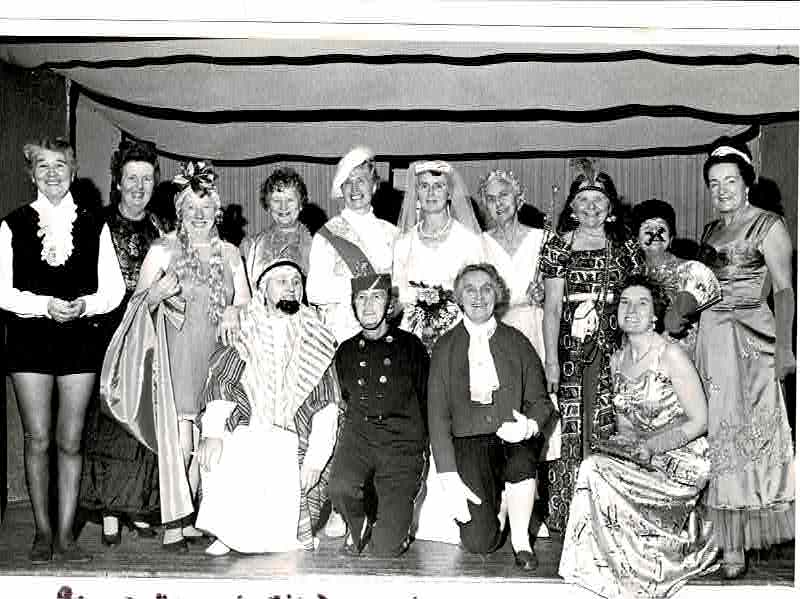 WI Panto show for Old Folks 1971