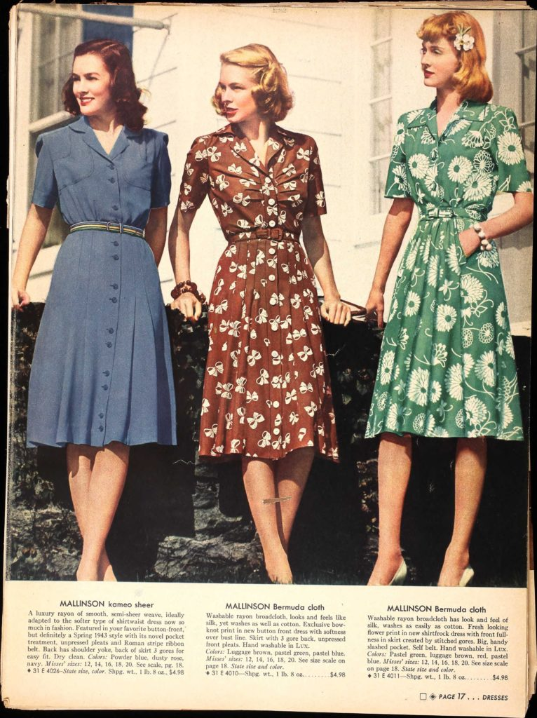 Typical 1940s dresses