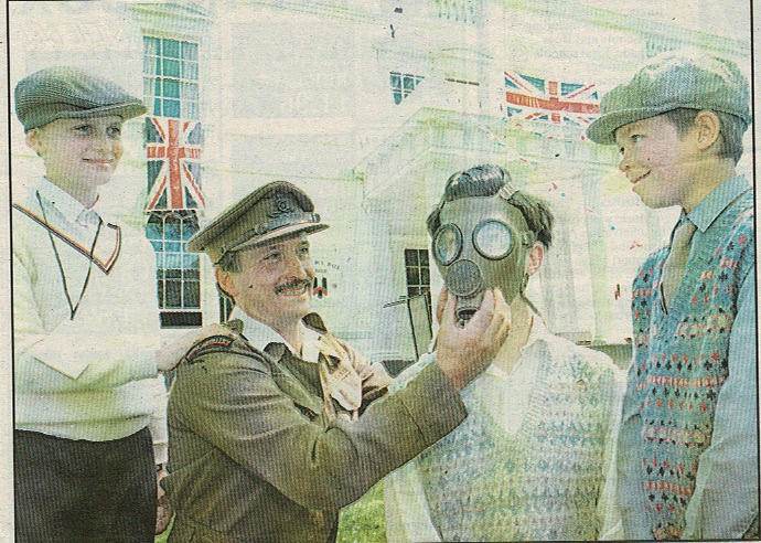 Gas mask fitting 1995 Teignmouth
