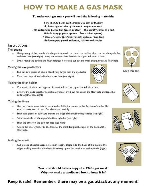 Make a pretend gas mask