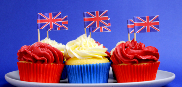 VE-Day cup cakes