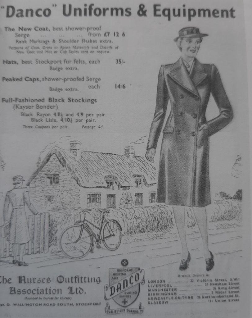 Uniform advertisement from Nurses and Nursing by Dr. Susan Cohen