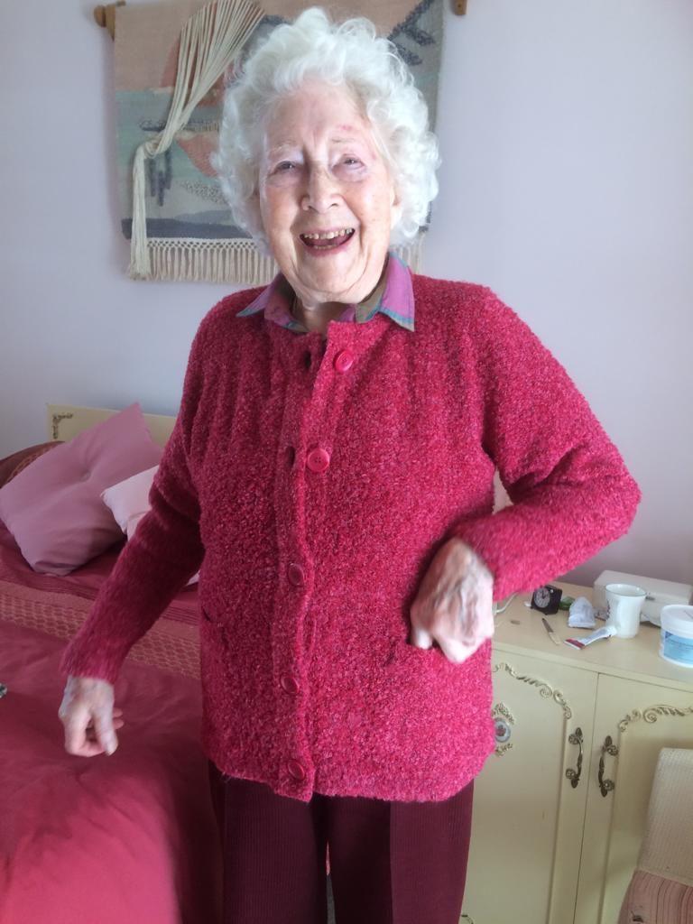 Mary Overill aged 98