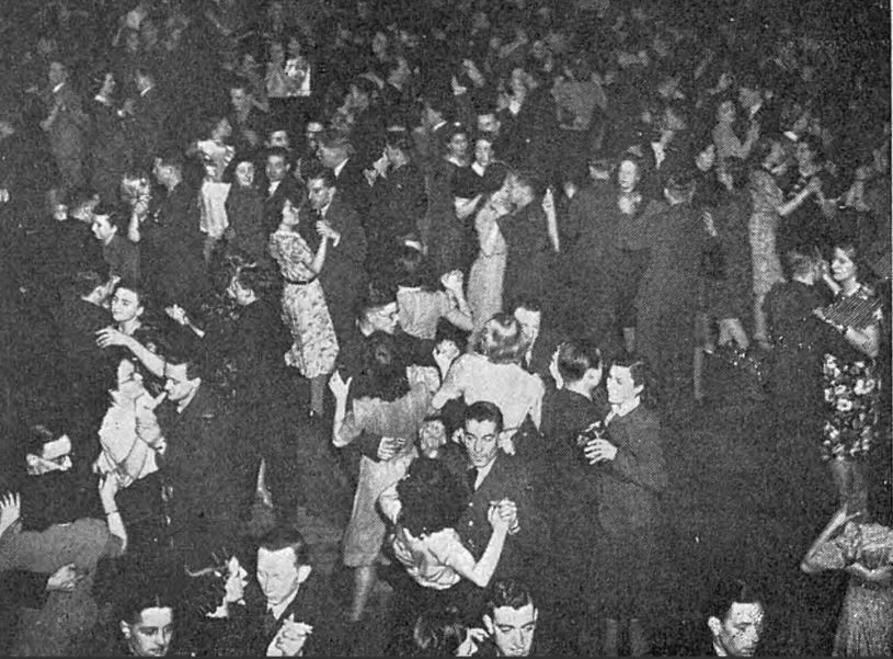 Wartime Dancing in Blackpool
