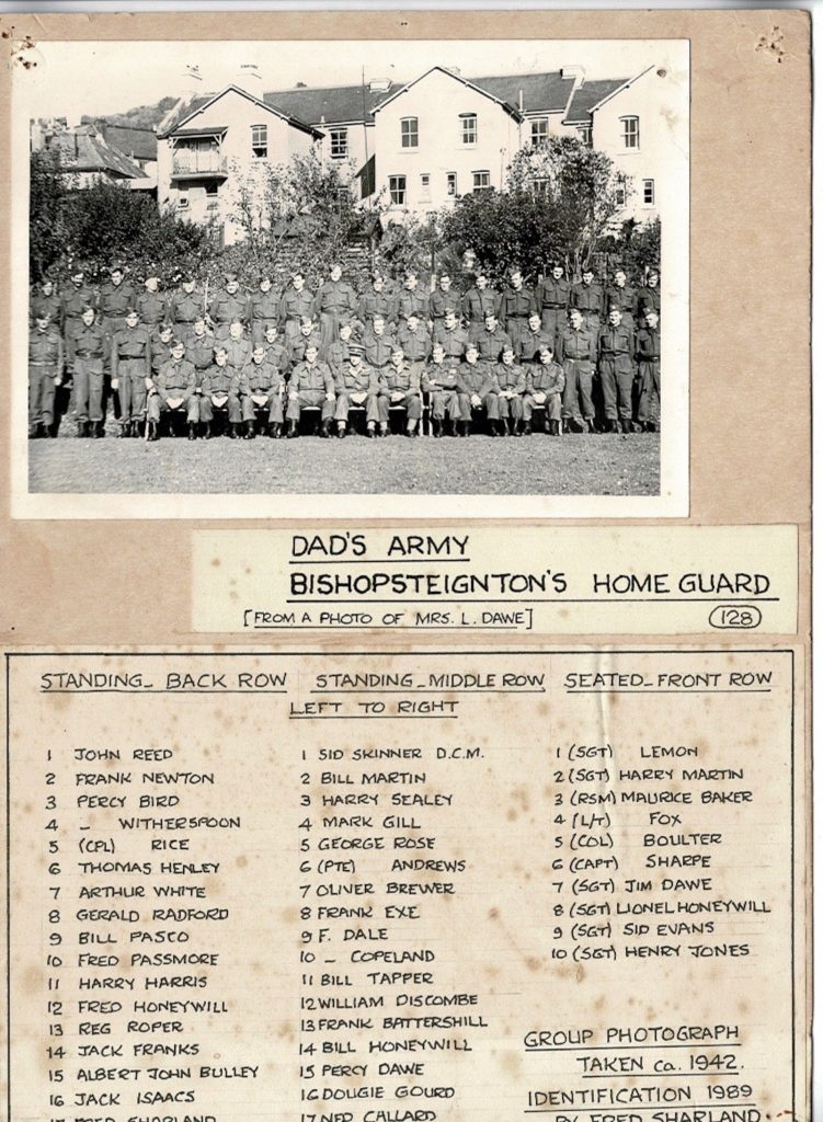 Home Guard names