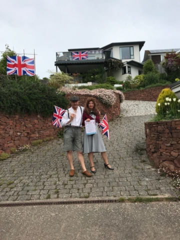 Jess, Richard, house and gardens in fine character on VE Day