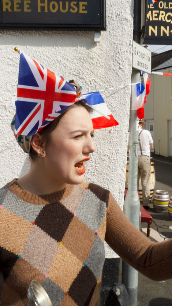 Mabel doing her bit for the celebrations - the Old Commercial VE Day 75