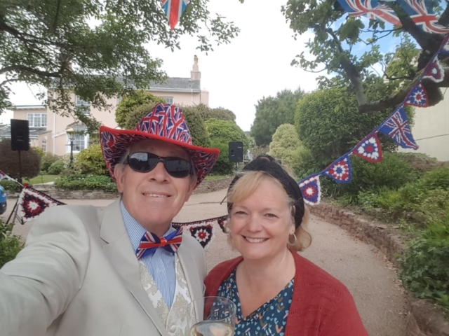 Rob and Helen in fine form on VE Day