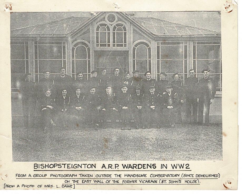 Bishopsteignton A.R.P. Wardens WWII