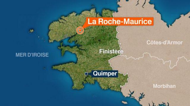 Map La Roche Maurice Location