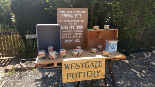 Pottery sale for the NHS