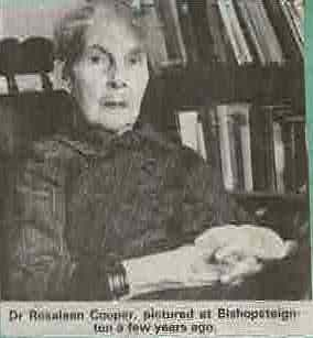 Dr Rosaleen Cooper photographed in Bishopsteignton