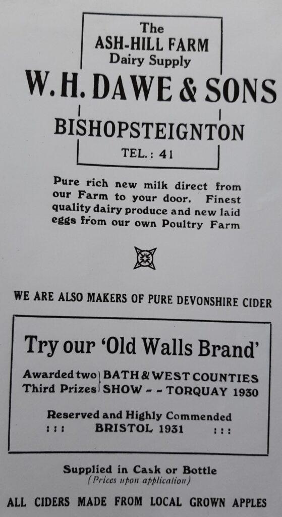 Old Walls Cider advertisement