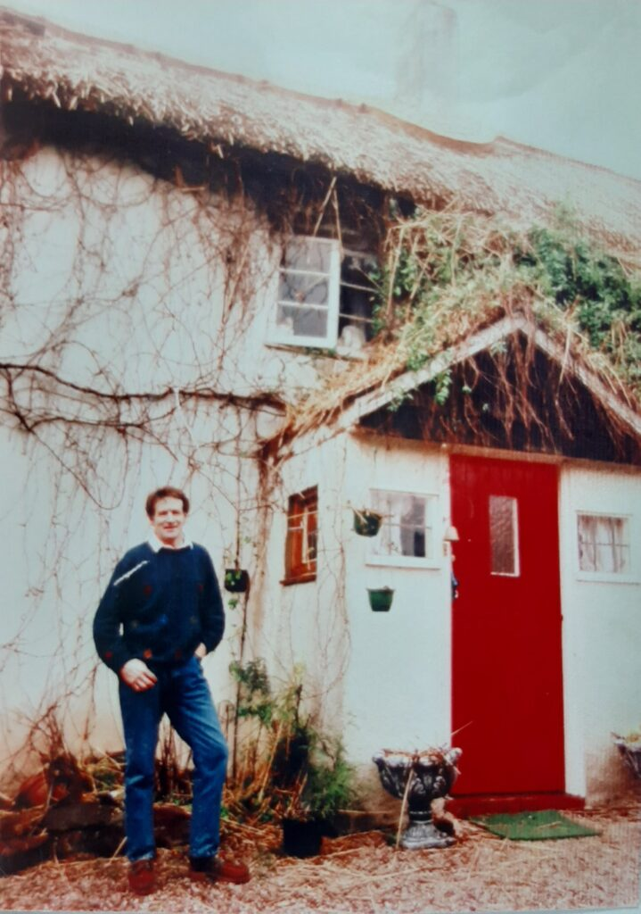 Ken Dawe outside Ashill Farmhouse