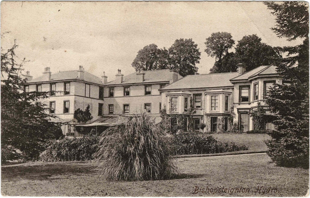 Postcard of Huntly Bishopsteignton Hydro inscribed in pencil on reverse