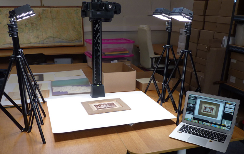 Digitisation equipment at the heritage hub