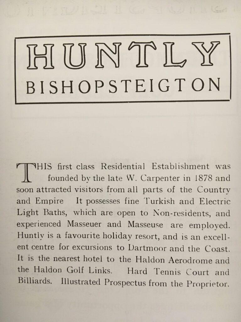 Huntly Advert
