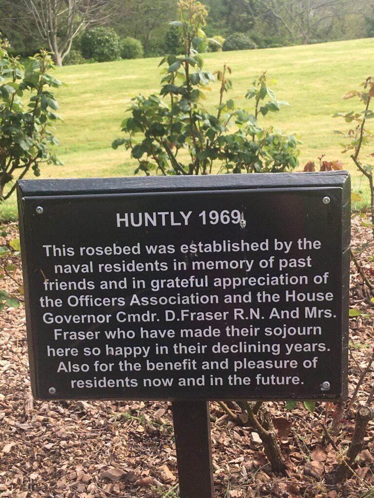 Rose garden plaque
