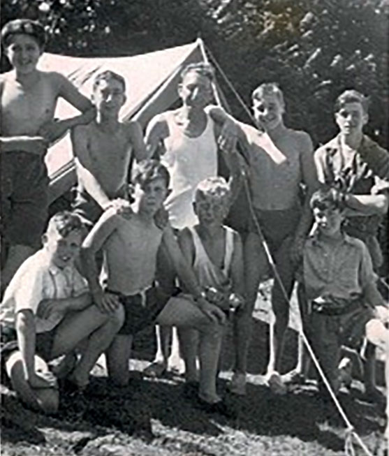 Bishopsteignton Scouts circa 1940