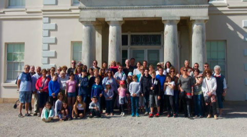 2018 Twinning outside Saltram House