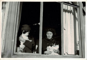 Photograph of Molly Coombe and an unidentified woman, c. 1960.