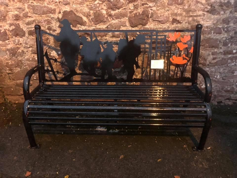 WWI commemorative bench