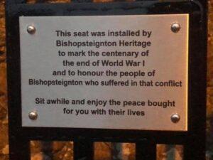 Memorial Bench Inscription