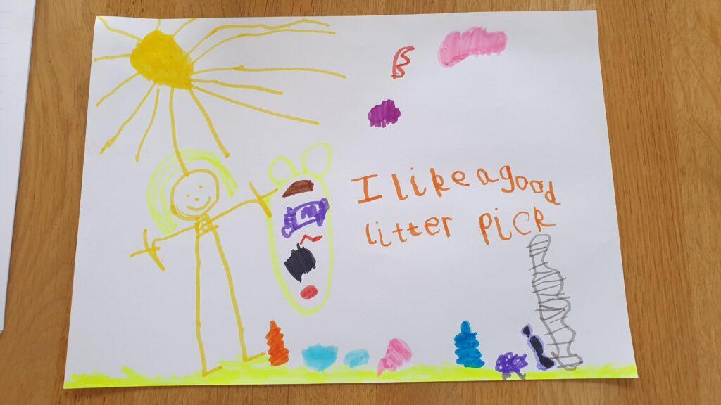 Litter pick drawing