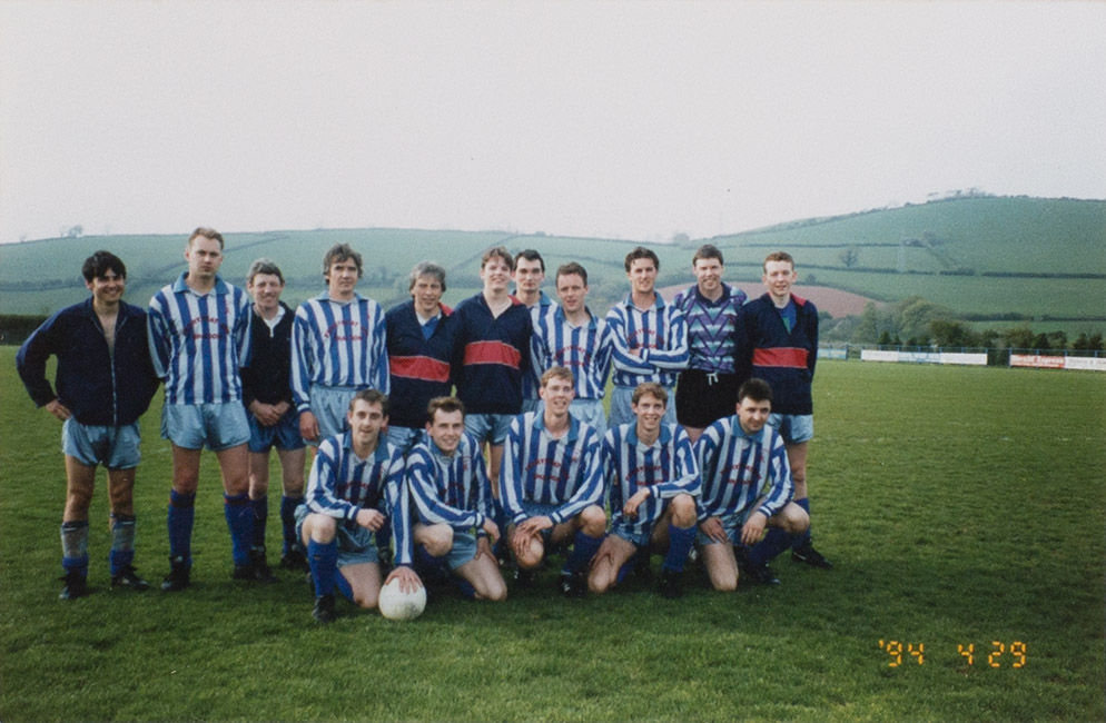 Photograph Bishopsteignton United Association Football Club Res. Team Squad