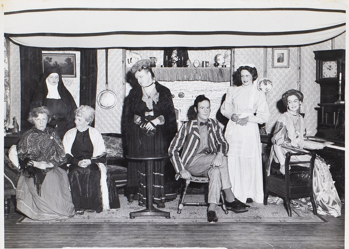 Photograph of cast in the play Ladies in Retirement presented by Bishopsteignton Players