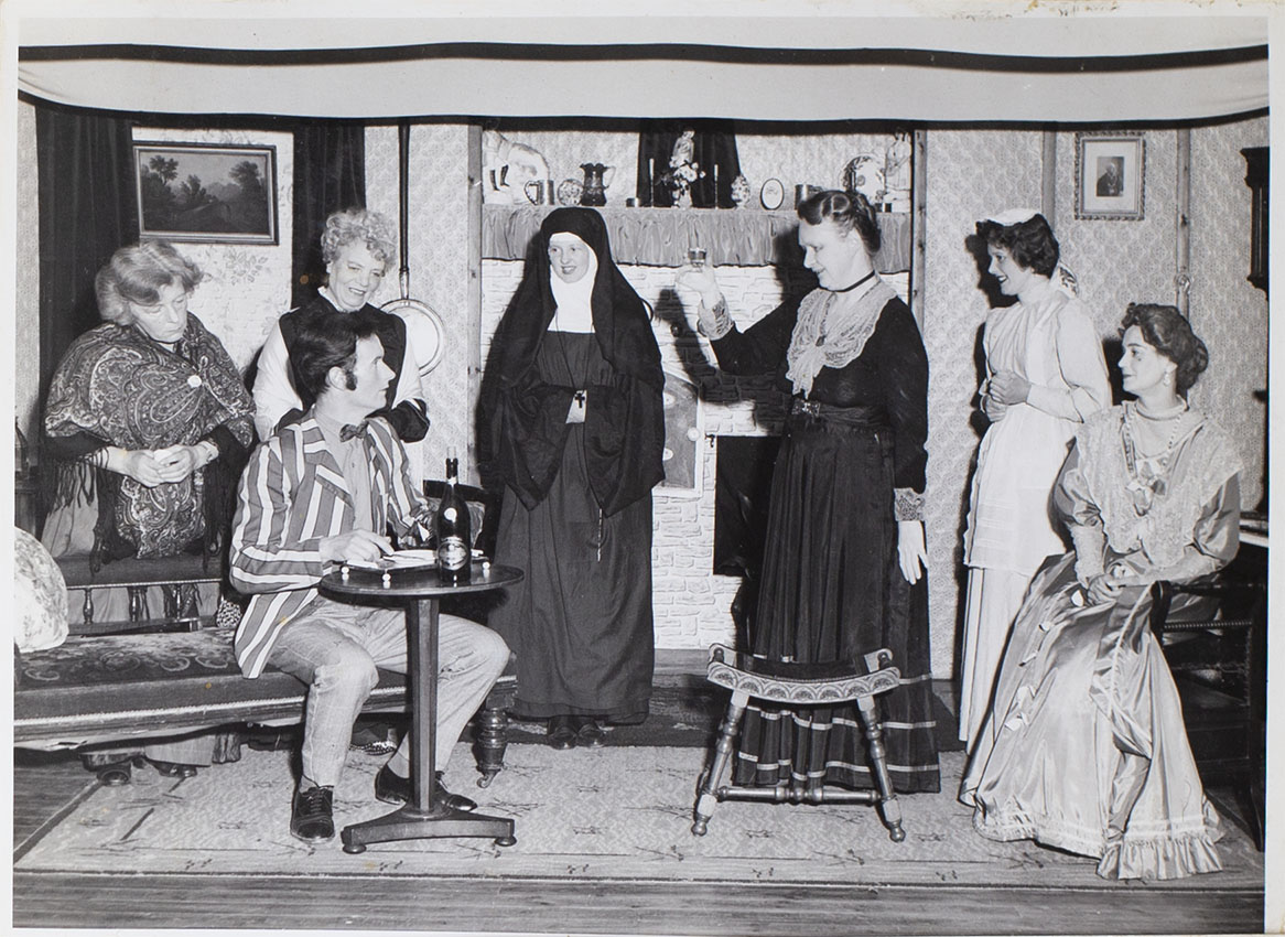 Photograph of the cast in the play Ladies in Retirement presented by Bishopsteignton Players