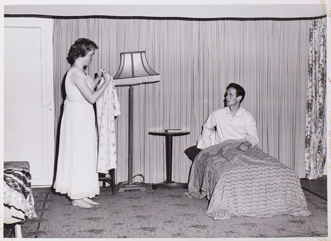 Photograph of cast members in a scene from the play 'Jane Steps Out'