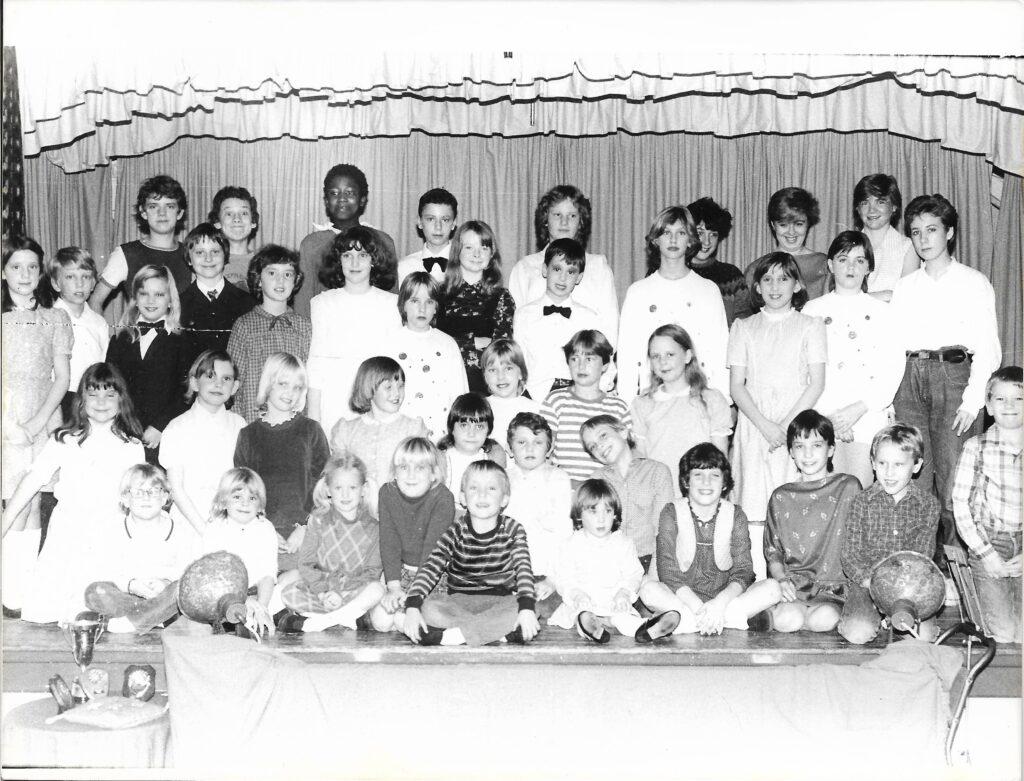 Cast of Dick Whittington, Bishopsteignton Children's Theatre, 1982