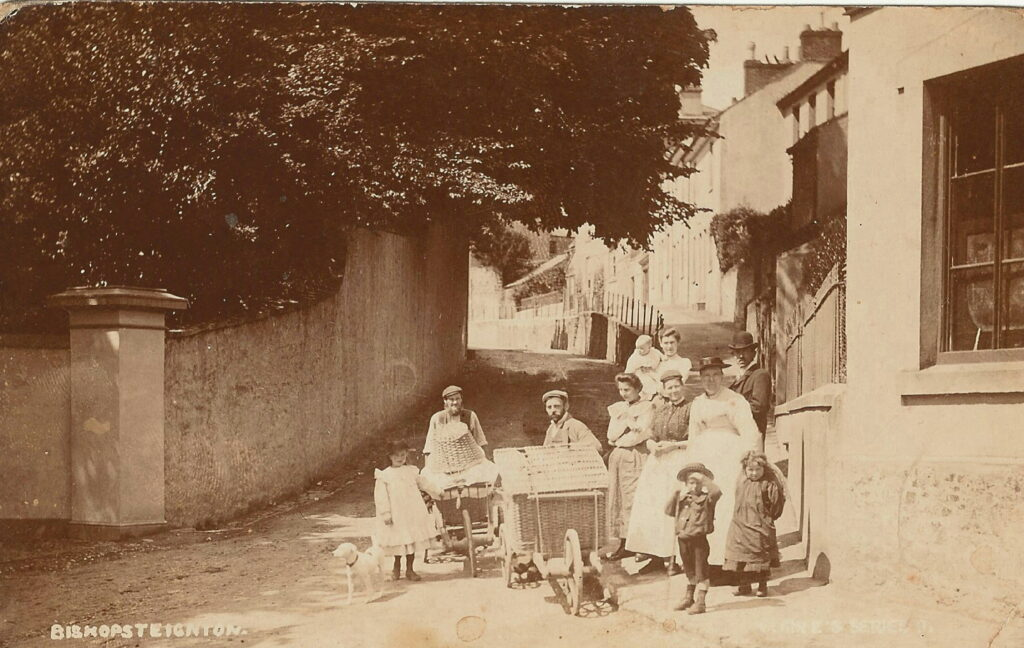 Old postcard of Bishopsteignton