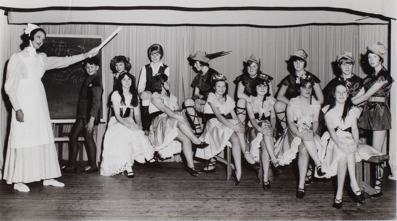 Scene from Babes in the Wood pantomime, 1966