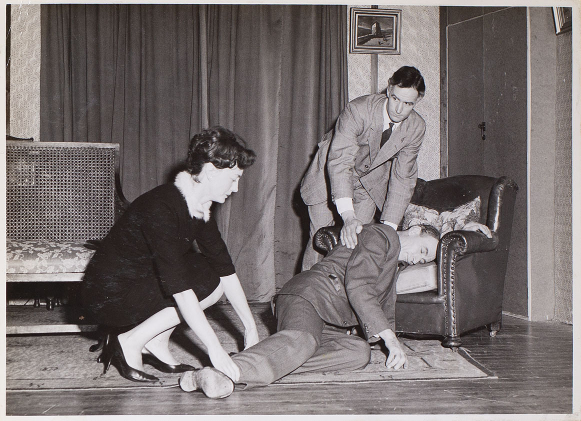 Photograph of a scene from the play 'The House By The Lake' presented by Bishopsteignton Players in 1962.