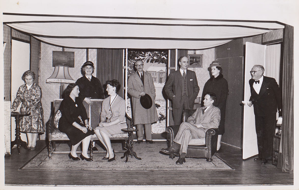 Photograph of a scene from the play 'The House By The Lake' presented by Bishopsteignton Players in 1962