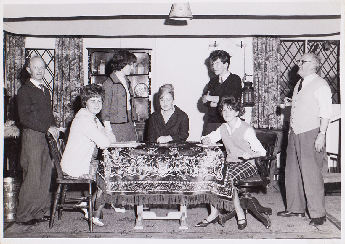 Photograph of Backstage Workers from the play 'Haul for the Shore' presented by Bishopsteignton Players in 1963