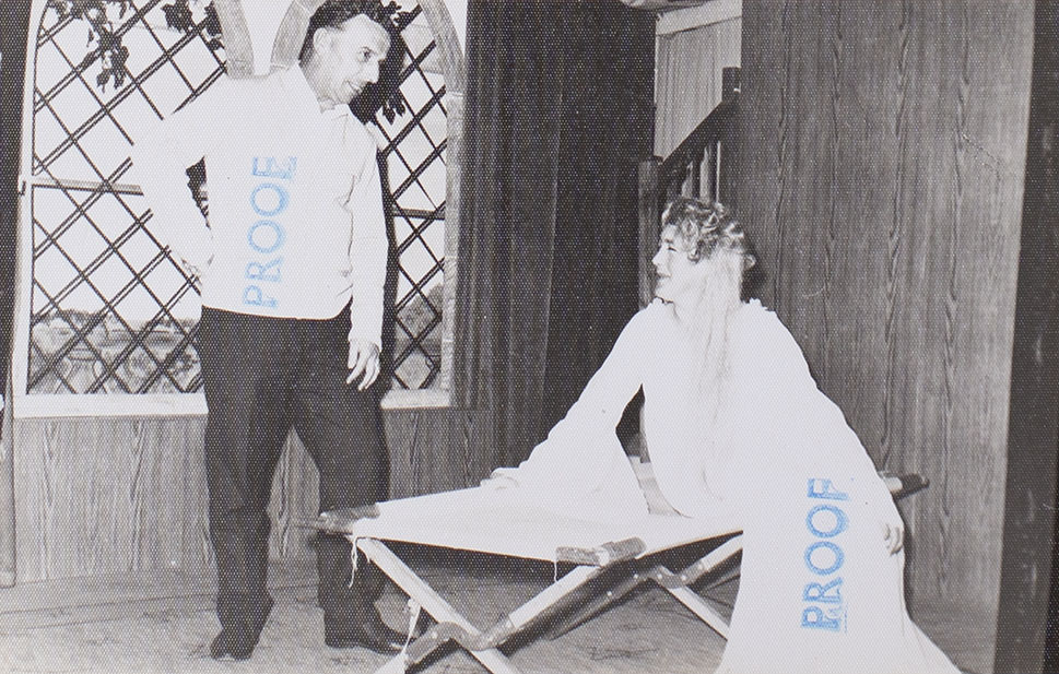 Photograph showing two actors in a scene from the play 'The Jilted Ghost' presented by Bishopsteignton Players