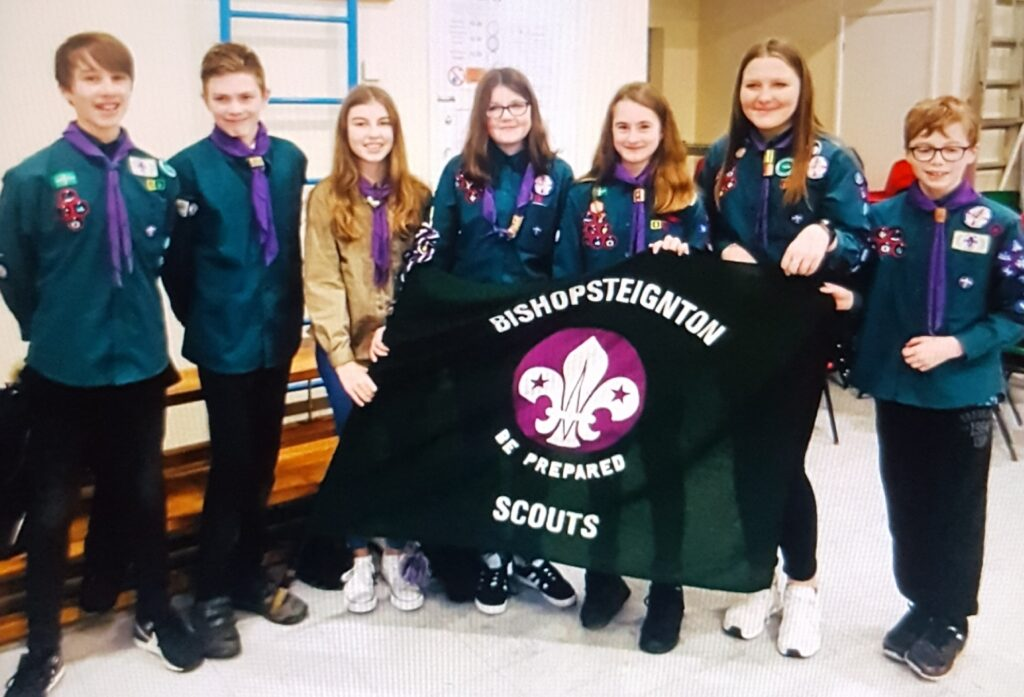 Photo of Bishop Scouts after being selected for the European Scout Jamboree