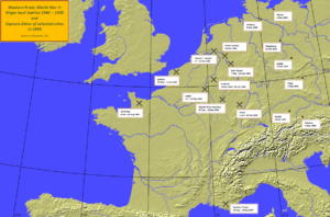 Map of Western Front WWII