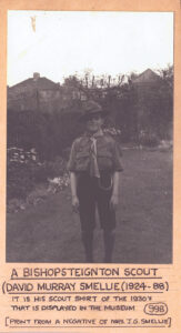 Mounted photograph of 1st Bishopsteignton Scouts member David Murray Smellie