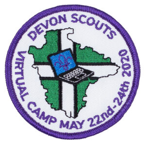 Devon Scouts virtual camp badge from May 22nd - May 24th 2020