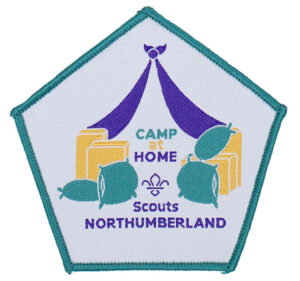 Northumberland Scouts Camp at Home badge from 2020