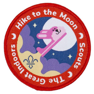 Scouts Hike to the Moon badge