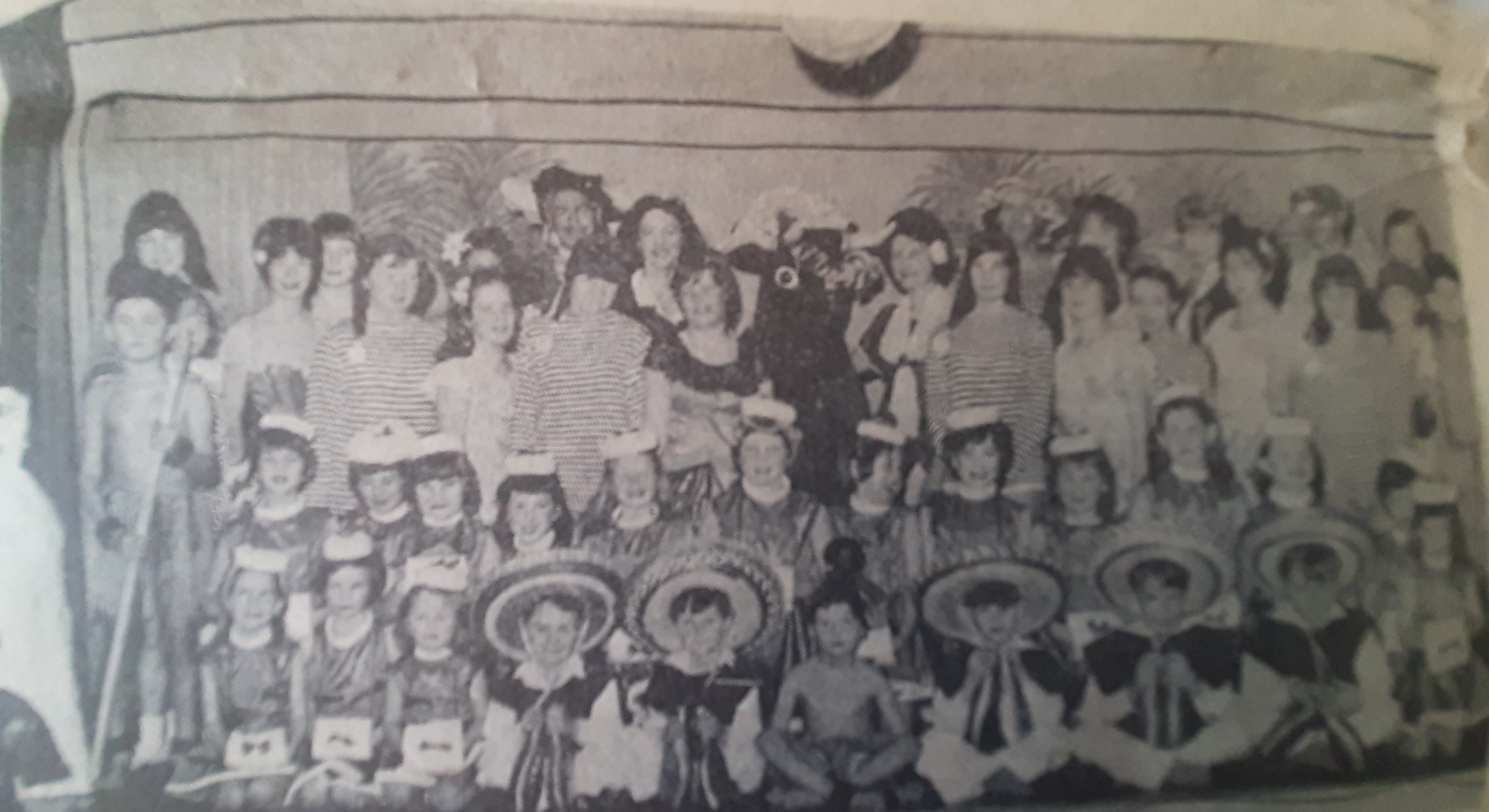 Newspaper photograph of the cast of Robinson Crusoe, 1966