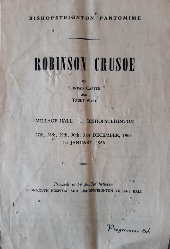 photo of Robinson Crusoe Programme 1966