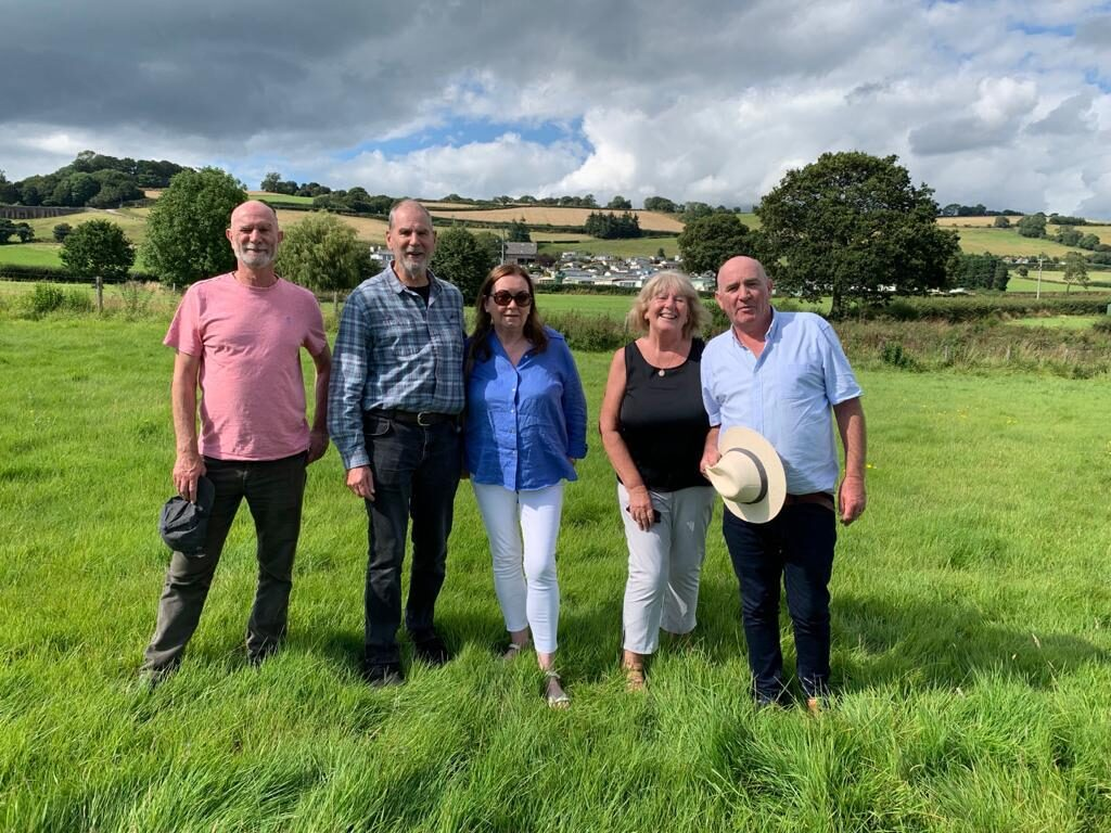 Paddy O'Gorman, his brothers and wives visiting Wear Farm Bishopsteignton